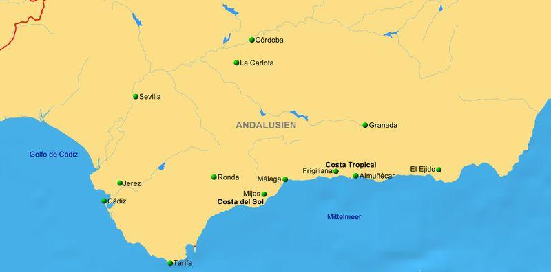 Andalusien Karte Flughäfen.Andalusien Ist Ein Zauberwort Reiseservice Vogt
