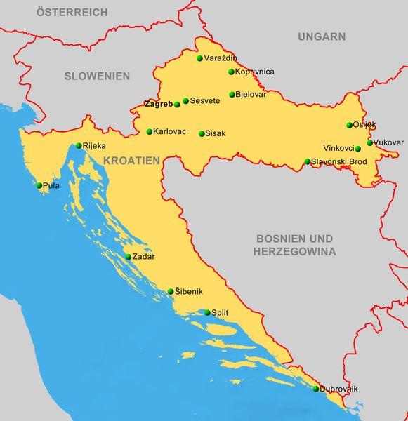 Karte Kroatien Pula.Kroatien Reiseservice Vogt