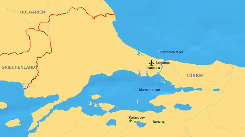Istanbul grenze und in europa zwischen asien Siemens und