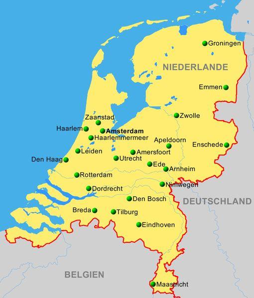 windmühlen holland karte Niederlande   ReiseService VOGT
