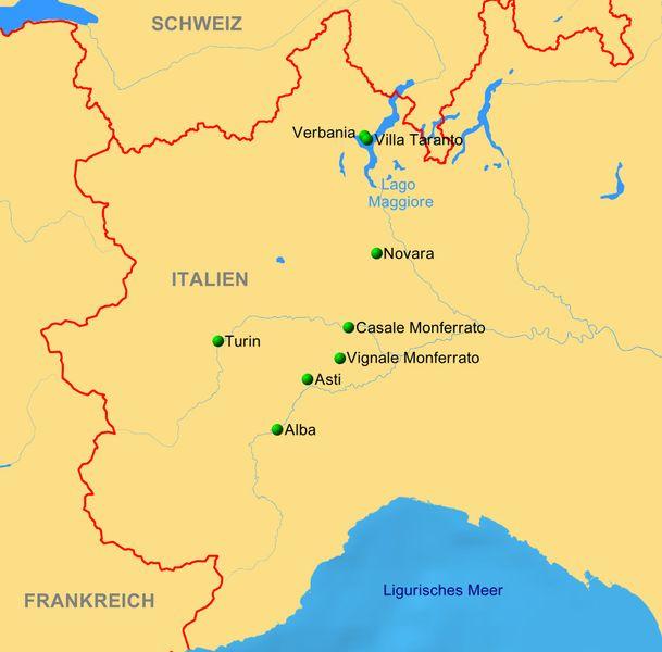 Piemont Weinbau Karte.Piemont Bullenmast Obst Haselnüsse Reiseservice Vogt