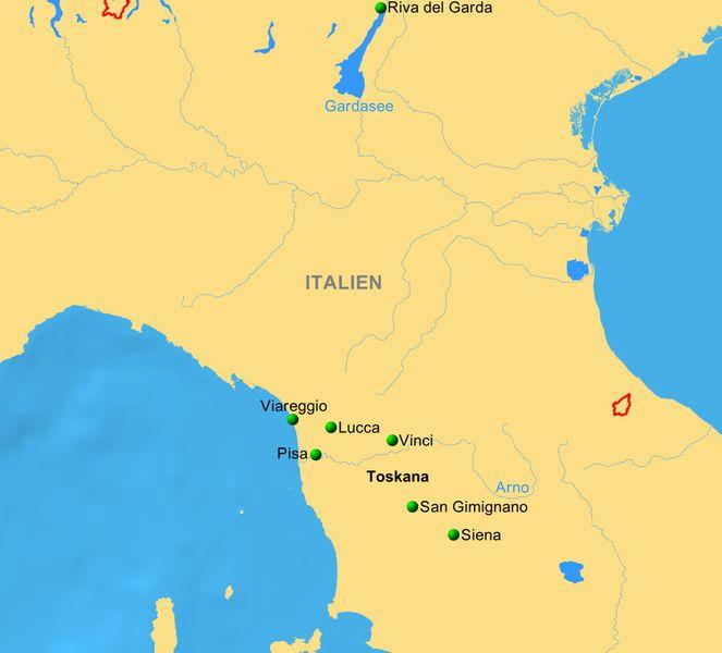 Toskana Karte Italien.Toskana Wein Rinderzucht Zitrusfrüchte Reiseservice Vogt