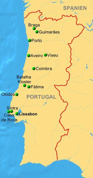 Porto Portugal Karte.Portugal Fatima Karte Kleve Landkarte
